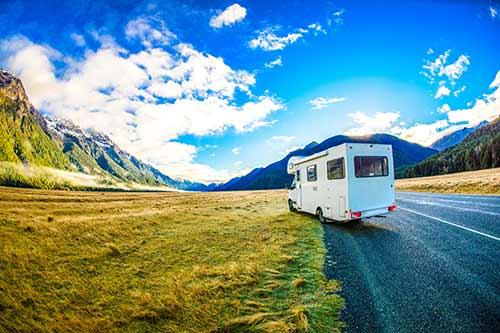 RV hire in Banff