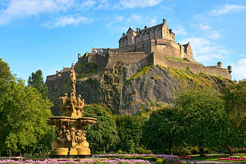 Edinburgh's famous castle